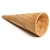 Ice cream cones, sugar, rolled-type (1 cone)