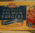 Seasoned Wild Alaskan Salmon Burgers