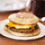 Sausage Egg and Cheese on English Muffin Breakfast Sandwhich