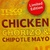 Tesco chicken and chorizo sandwich with chipotle Mayo