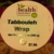 Whole Foods Tabbouleh Wrap